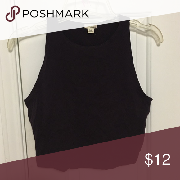 Dark purple Crop top Great condition, stretchy material Garage Tops Crop Tops