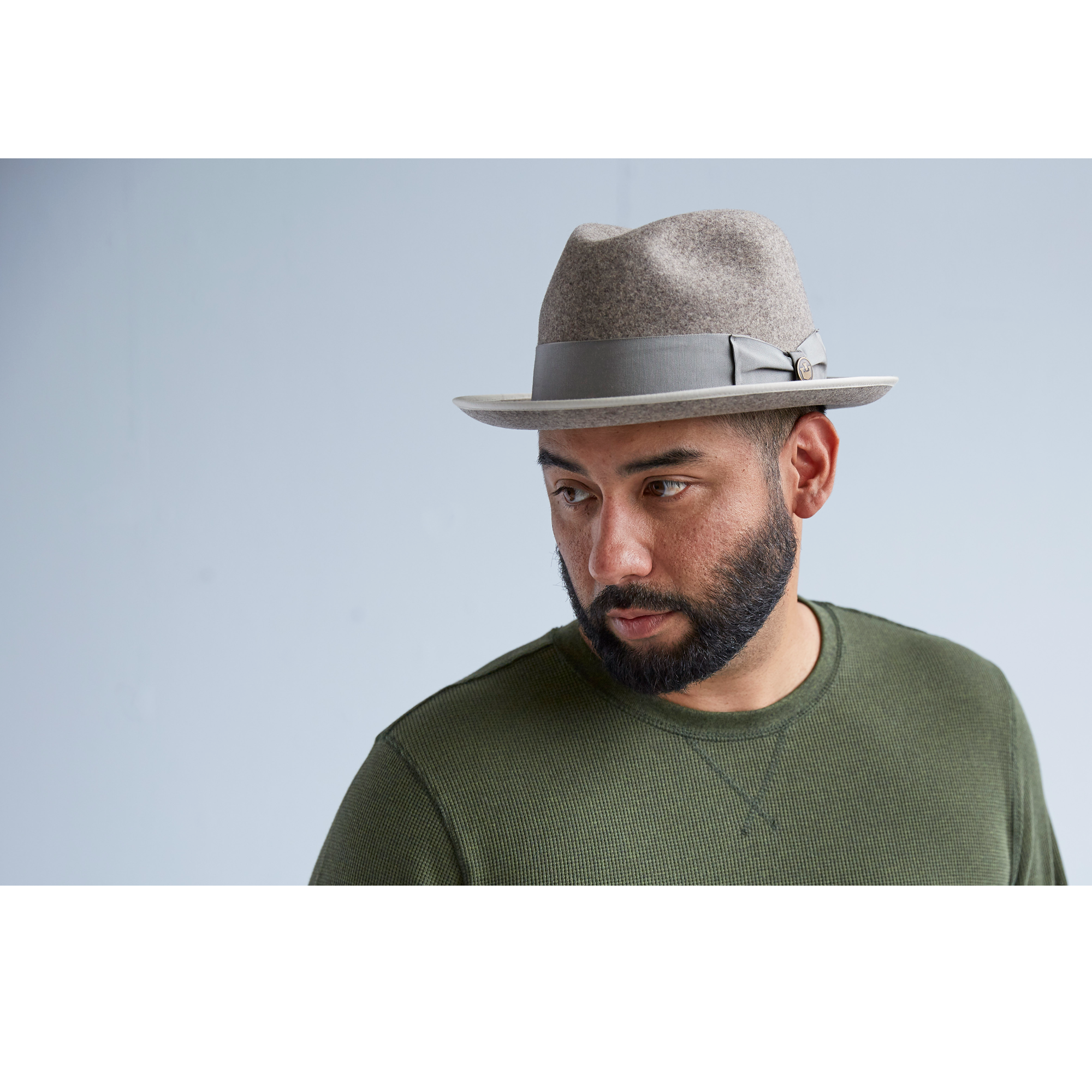 Goorin The Hills Fedora Hat in Grey, size Large