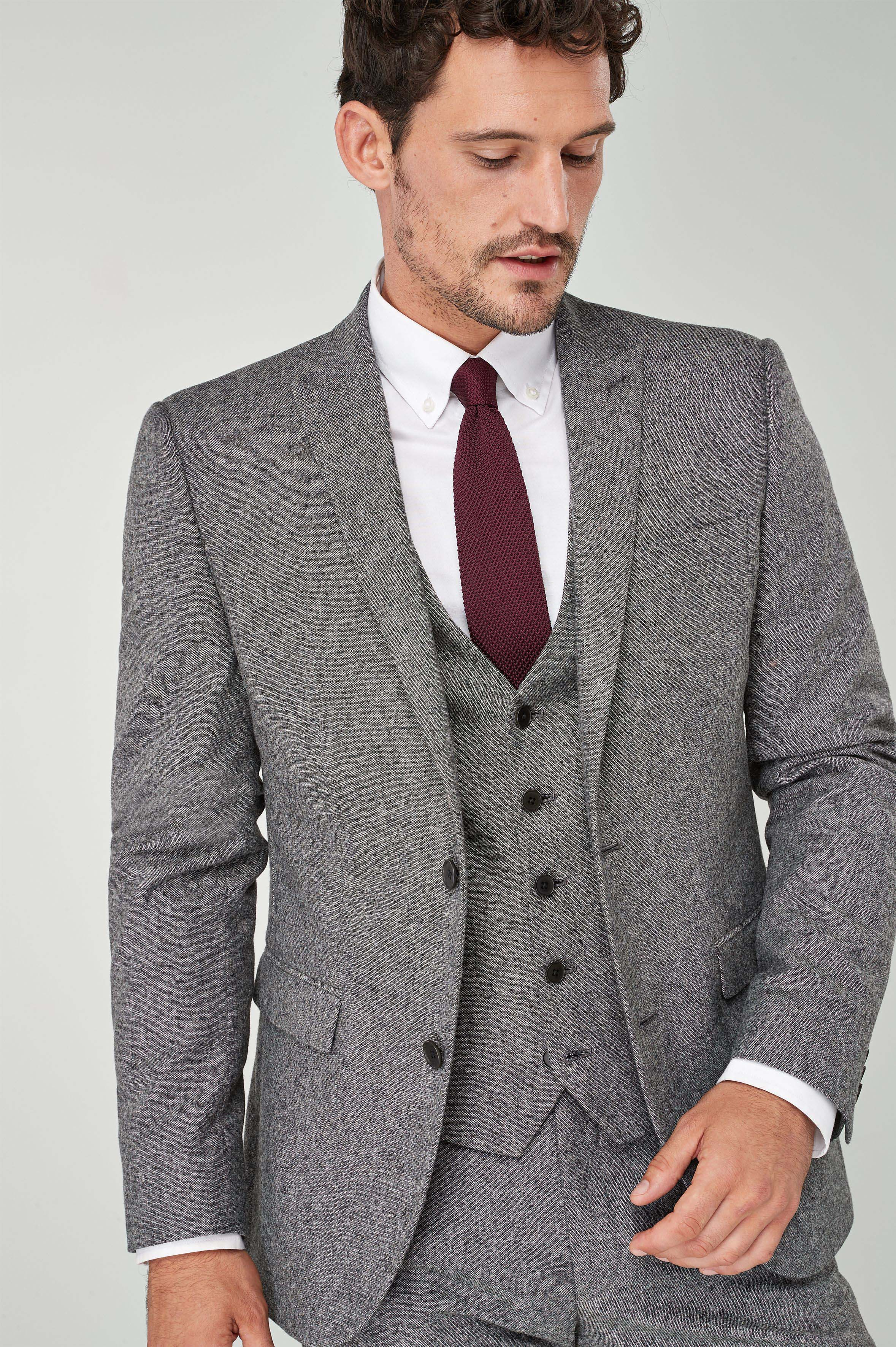 4ae76a1d30bb Mens Next Grey Slim Fit Donegal Suit: Jacket - Grey | Products en ...