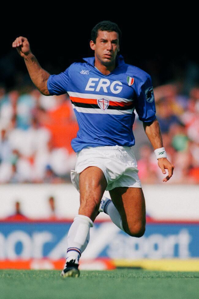 82951ba904d741 Gianluca Viali playing for Sampdoria during the 1991/92 season ...