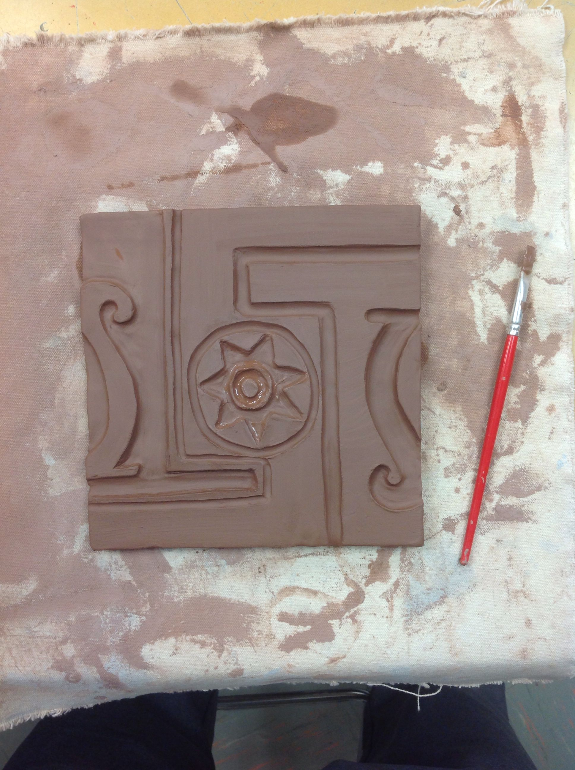 Making progress on my relief tile ceramics pd 10 pinterest making progress on my relief tile doublecrazyfo Images