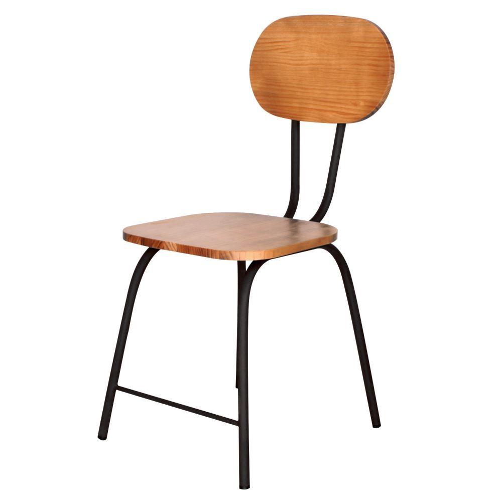 Chaise Bois Et Metal Industriel chaise de style industriel, structure métallique, assise et