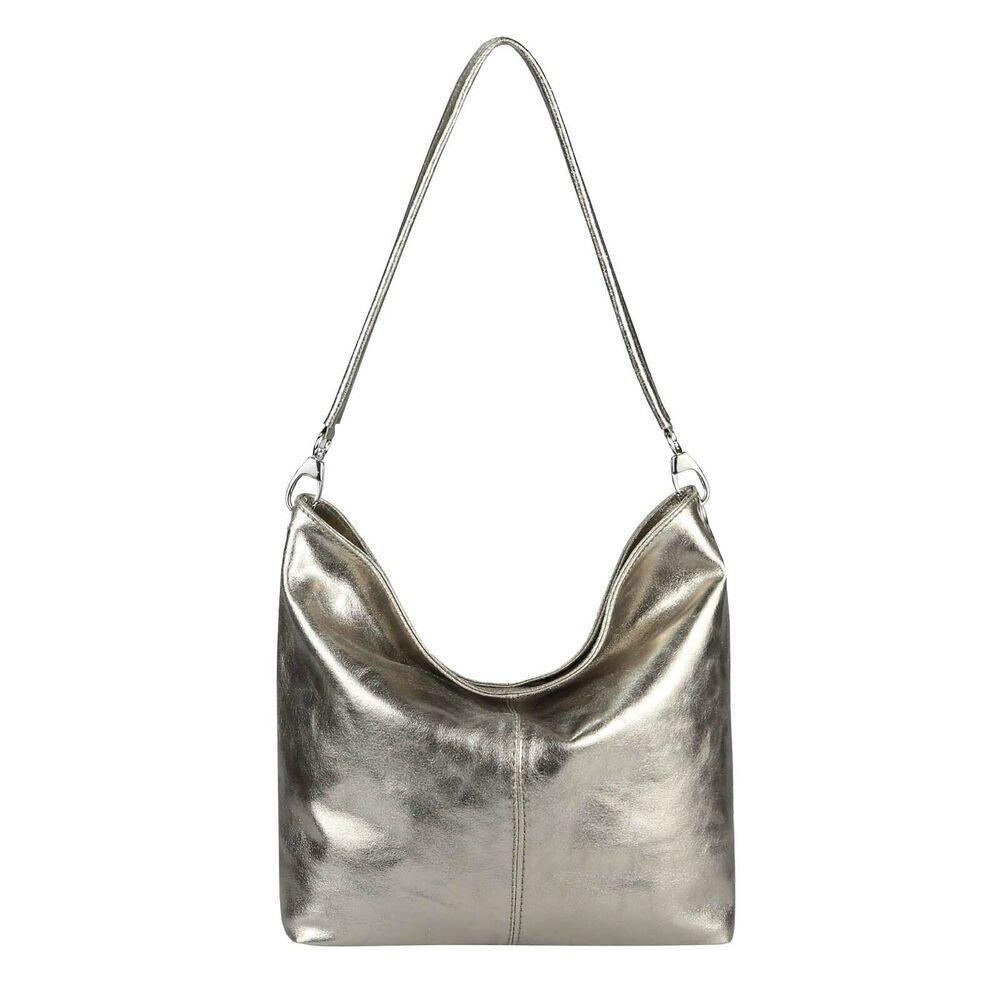 Photo of [Werbung] [Werbung]    ITAL LADIES LEATHER BAG SHOPPER Metallic Handbag Hobo Bag …