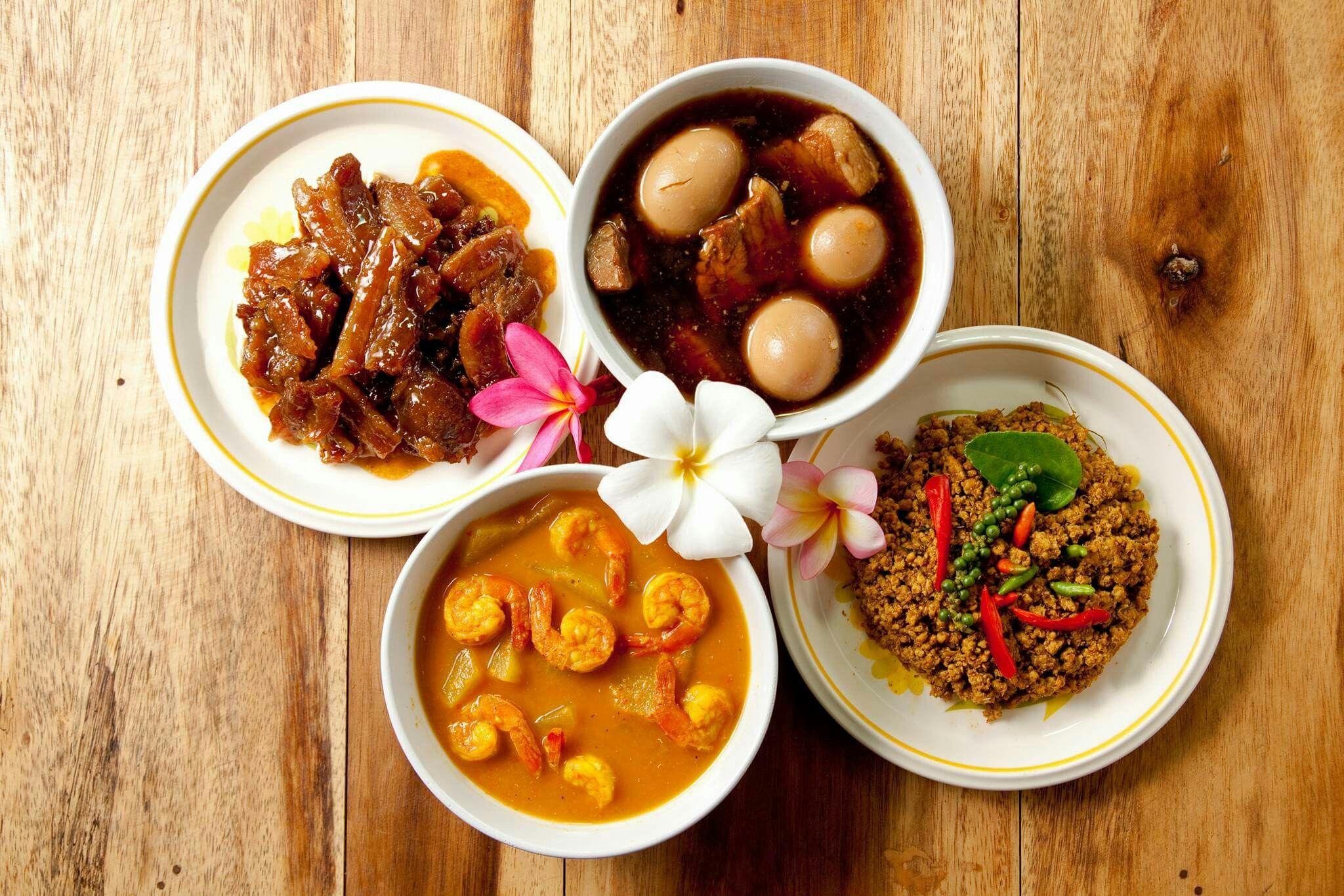 Aroi mak traditional thai food อาหาร