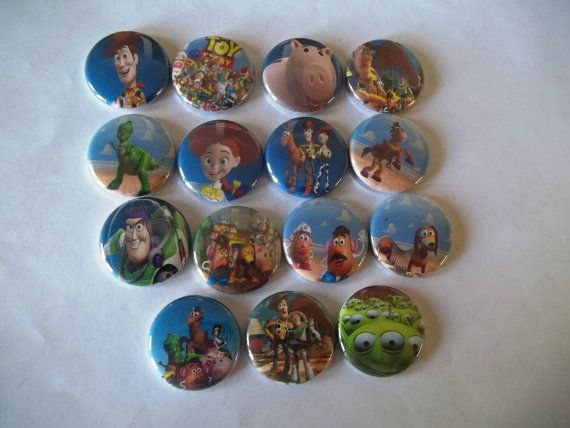 15 Toy Story flat back Buttons by Funcreations5 on Etsy, $4.50