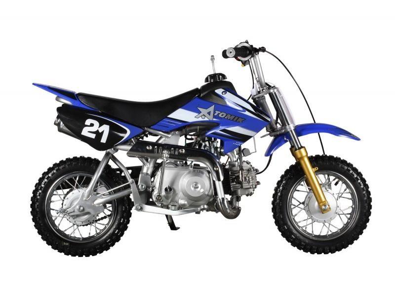 Atomik 50cc Blue Moto Dirt Bike Dirt Bike Bike 50cc