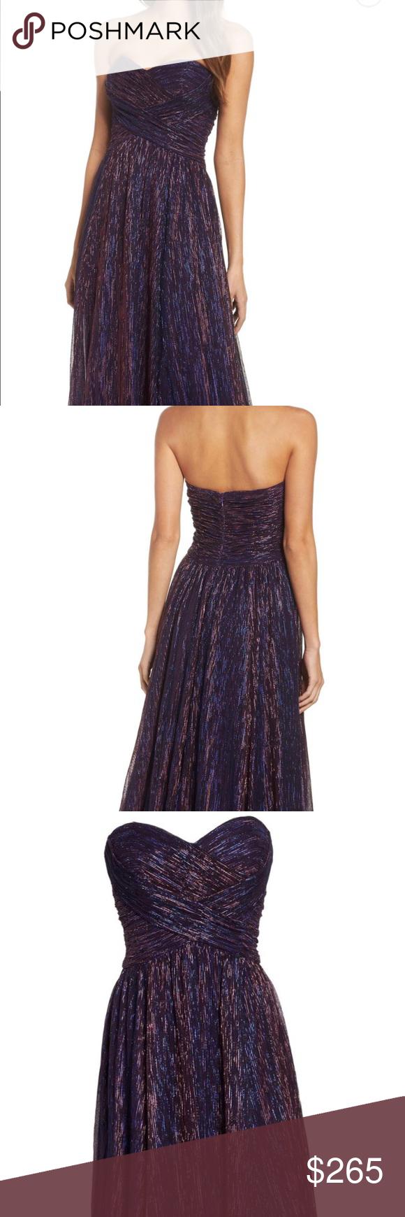 Amazing metallic promformal dresshas pockets la femme dresses