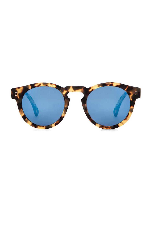 528e31169b9 illesteva Leonard in Tortoise   Blue Mirrored