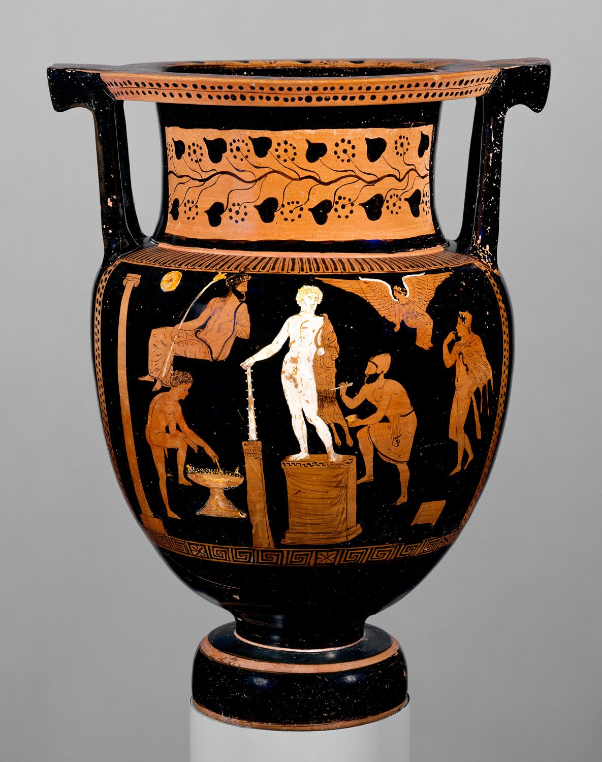 Terracotta column krater bowl for mixing wine and water terracotta column krater bowl for mixing wine and water attributed to the group reviewsmspy