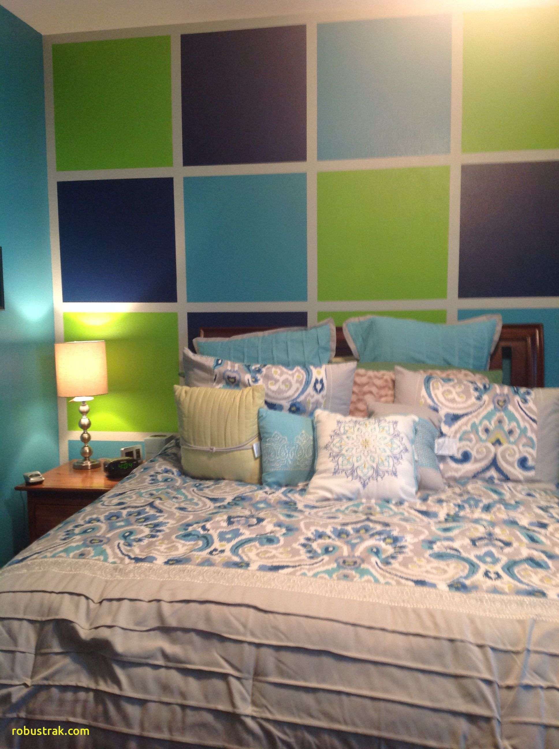 Painting Two Accent Walls Lime green bedrooms, Green