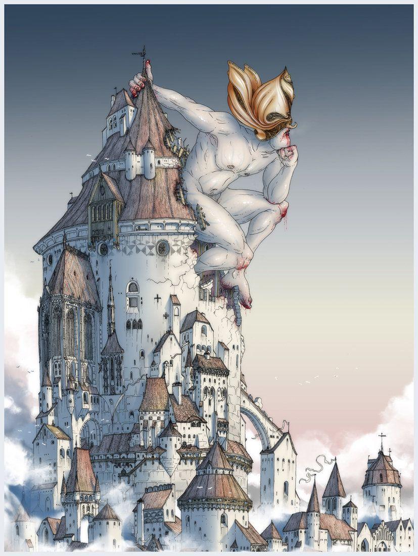 The Tower is Taken, Gediminas Skyrius on ArtStation at https://www.artstation.com/artwork/WKd2y