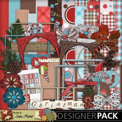 Holiday Whimsey,  Digital Scrapbook Kit, scrapbook kit, Christmas scrapbook kit, Holiday scrapbook kit