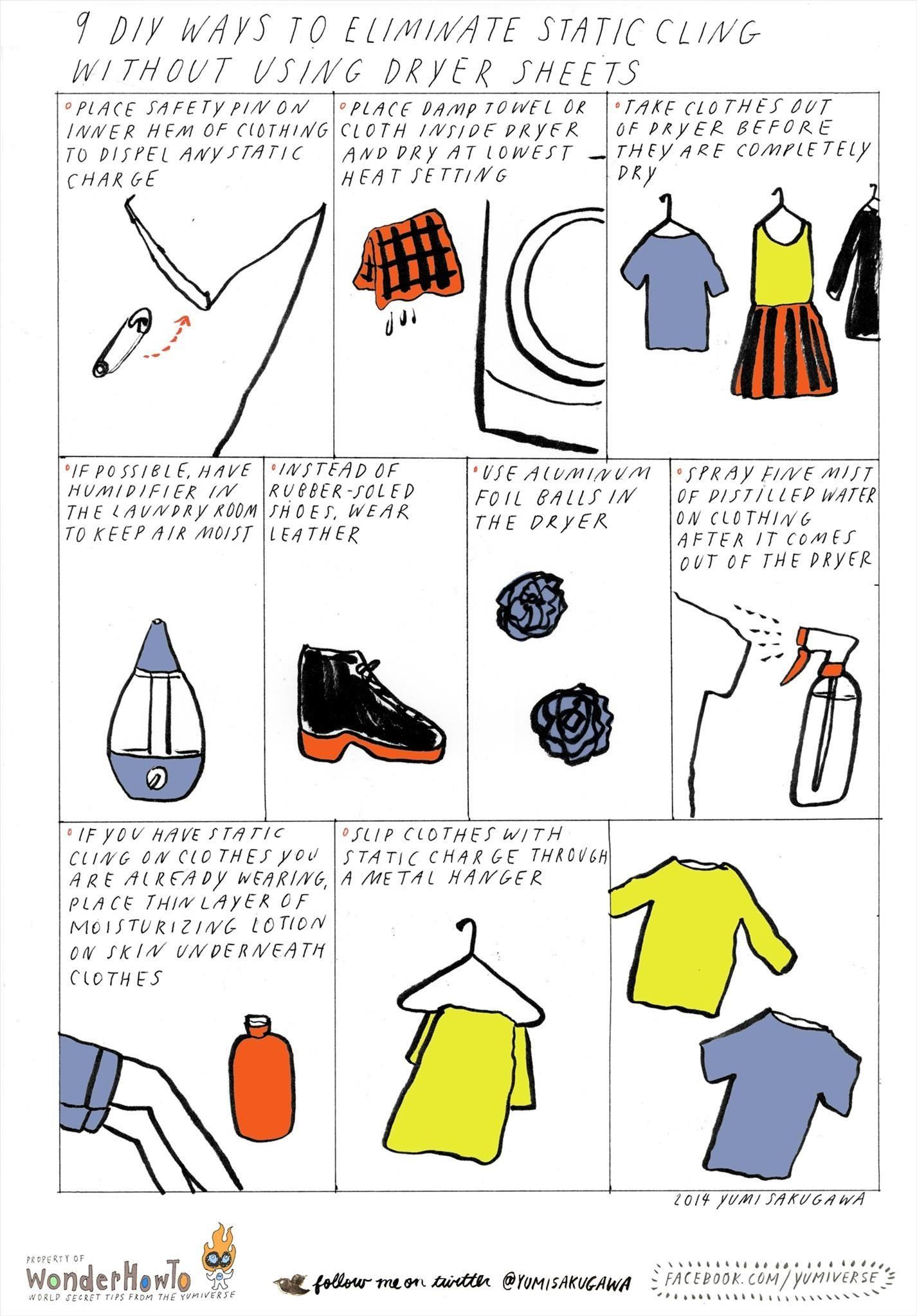 how to use dryer sheets to clean