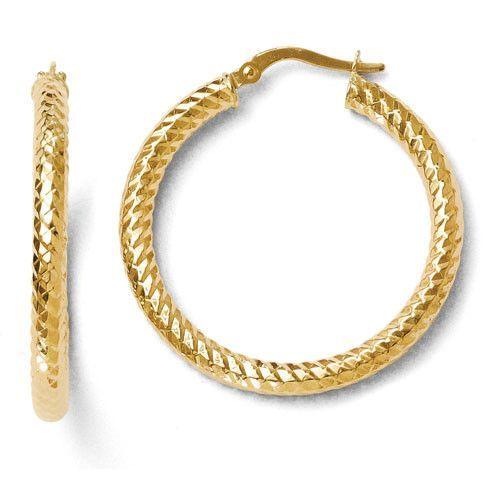 14k Yellow Gold Forever Lite Hoop Earrings