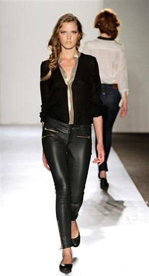 Leather Skinny with Zippers