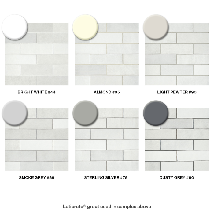Choosing Grout for Cloé's White Subway Tile