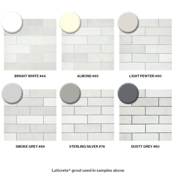 Choosing Grout for Cloé's White Subway Tile #whitesubwaytilebathroom