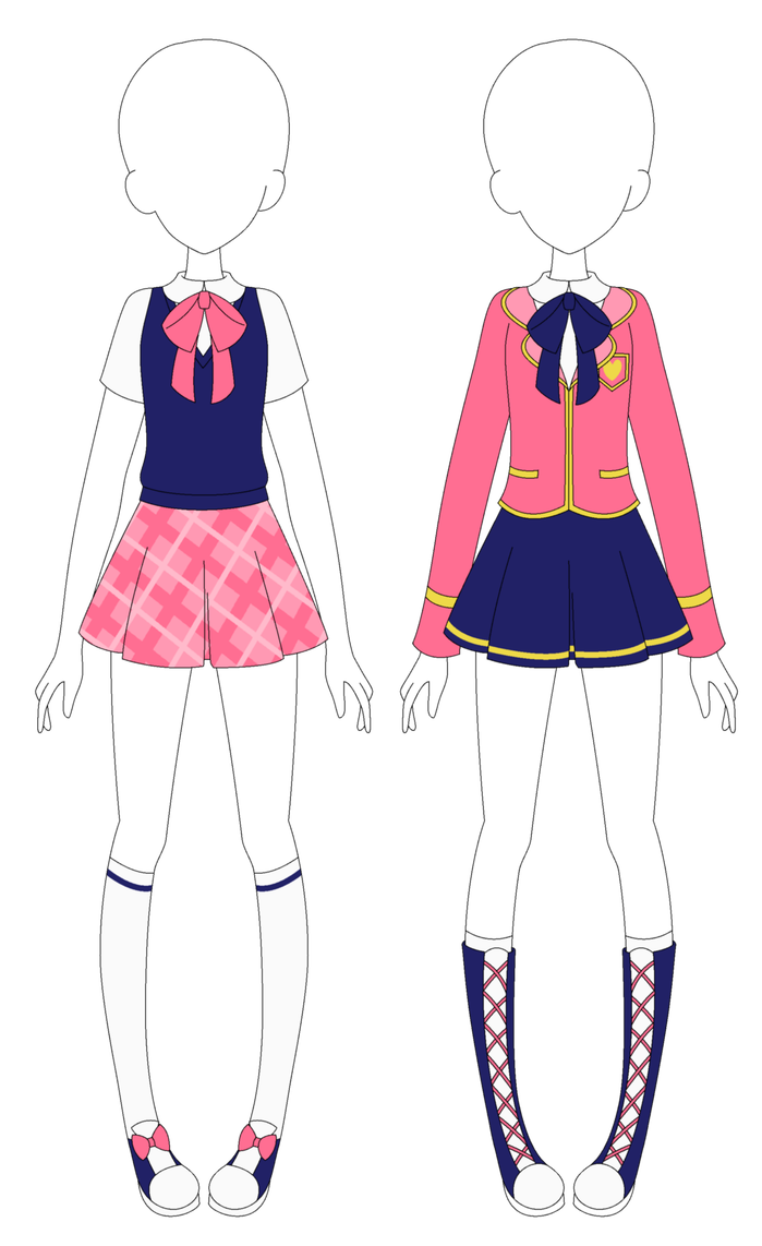 Cute Uniform By Mappymaples On Deviantart Fashion Design Drawings Drawing Anime Clothes Fashion Design Sketches