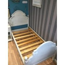 Beautiful Shabby Chic Solid Wood Single Bed Frame Upcycled In