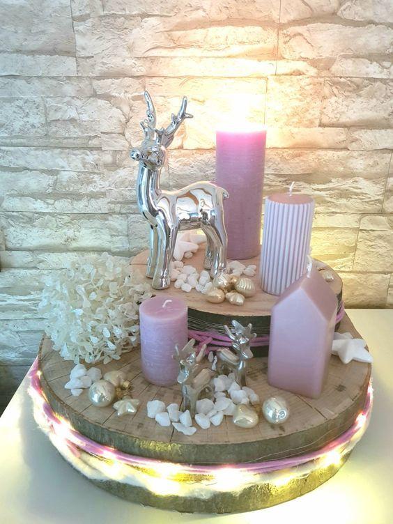 Aldi Weihnachtsdeko.Selfmade Adventskranz Mit Holzscheiben Deko Von Aldi