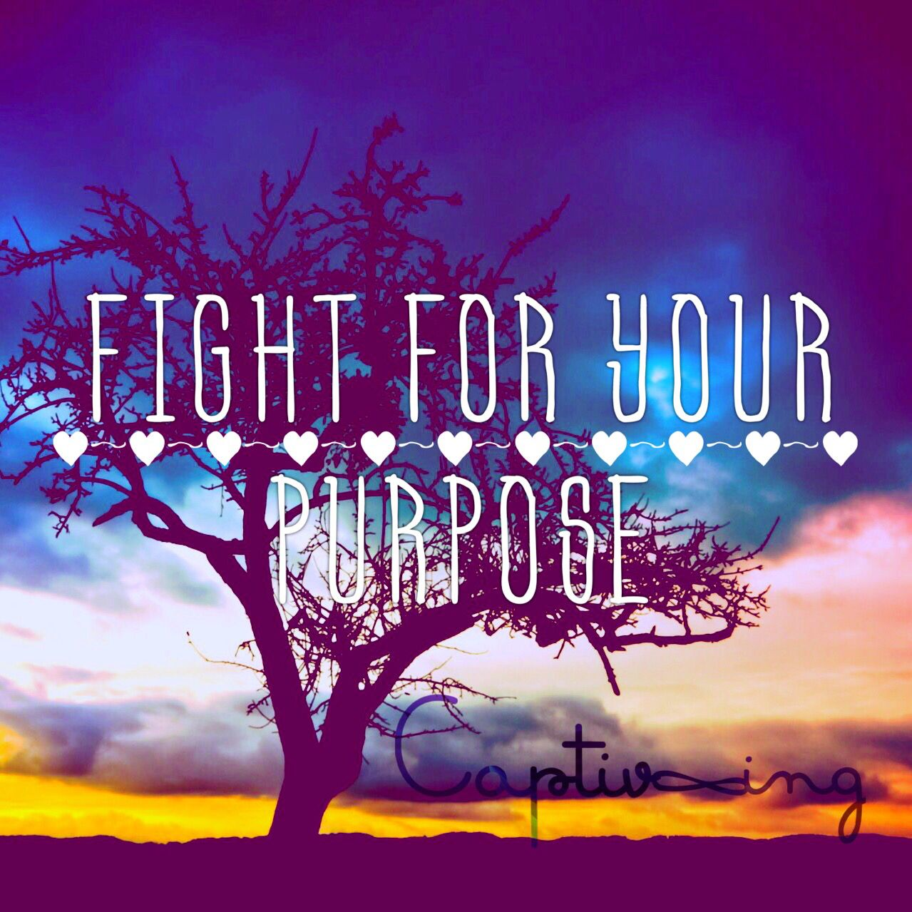 Fight for your purpose. #Captivating #Belief #Purpose #Vision #Attitude #Spirituality #God #Prayer #Ambition #Clarity