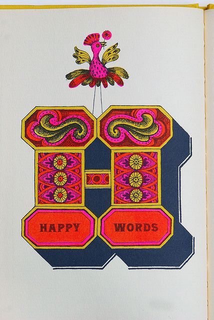 Happy Words by Letterologist, via Flickr. From 1962