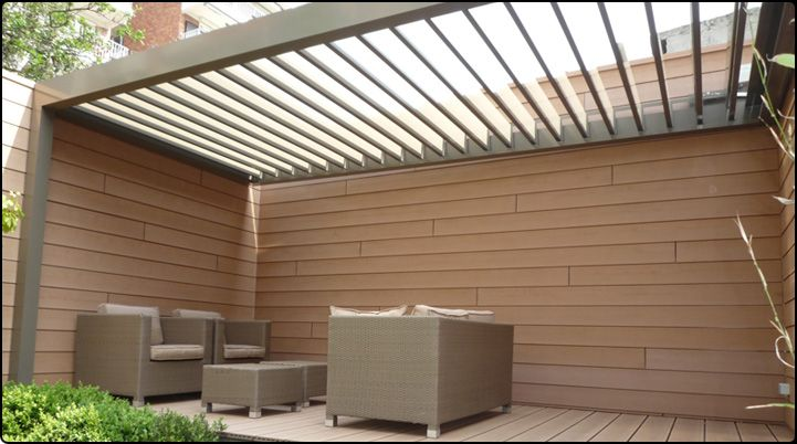 Sun Protection Roof System Based On Rotating Blades With Images Patio Canopy Pergola Canopy Outdoor
