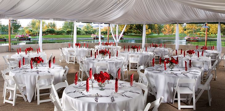 the aspen terrace outdoor wedding venue at the inverness hotel in denver http