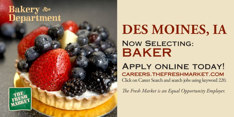 Baker Job Openings in Des Moines, IA (With images) Baker