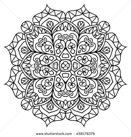 Mandala For Painting Vector Ethnic Oriental Circle Ornament Great Antistress Coloring Book Artmeditation