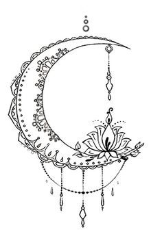 Bohemian Moon Tattoo Design Designed By The Devil Is In Details Facebook