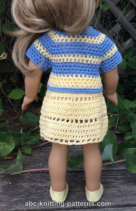 Free Doll Skirt and Jacket Crochet Pattern | Crochet | Pinterest