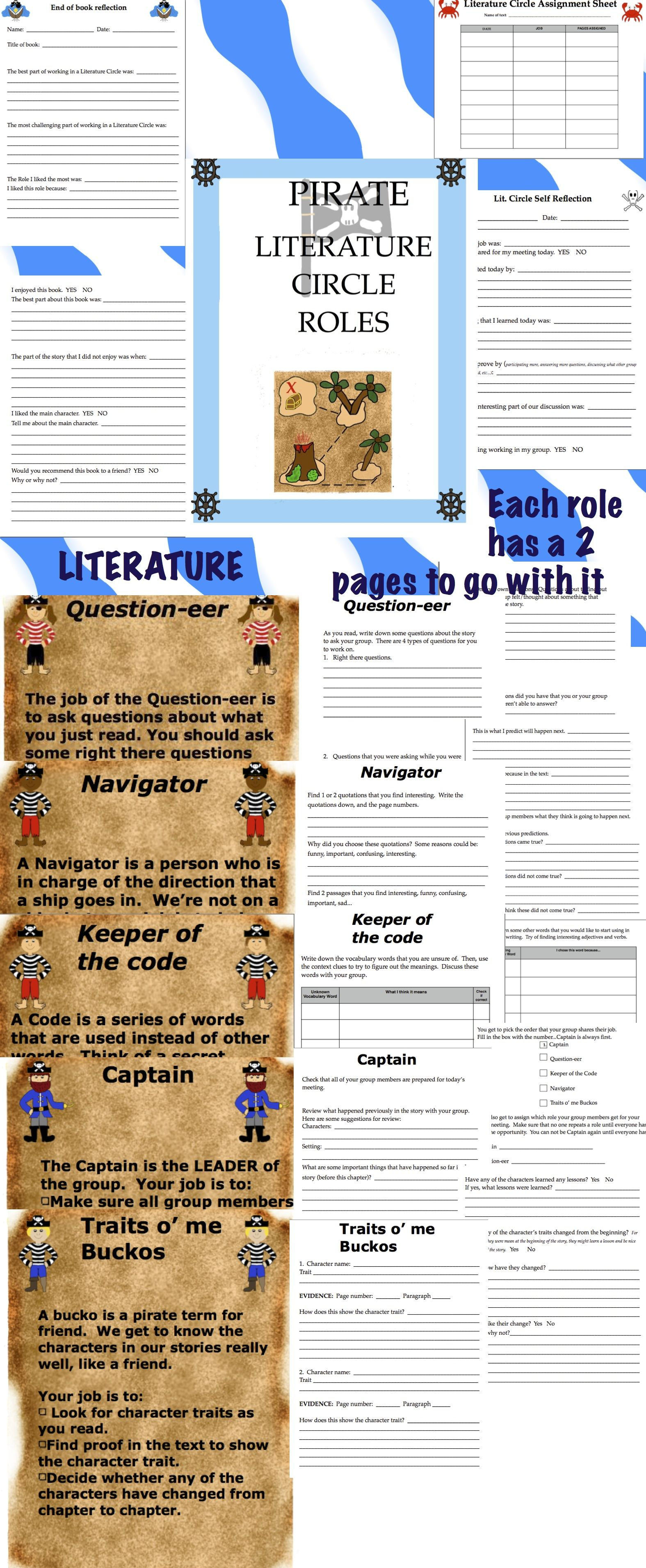 Pirate Themed Literature Circle 3rd Grade