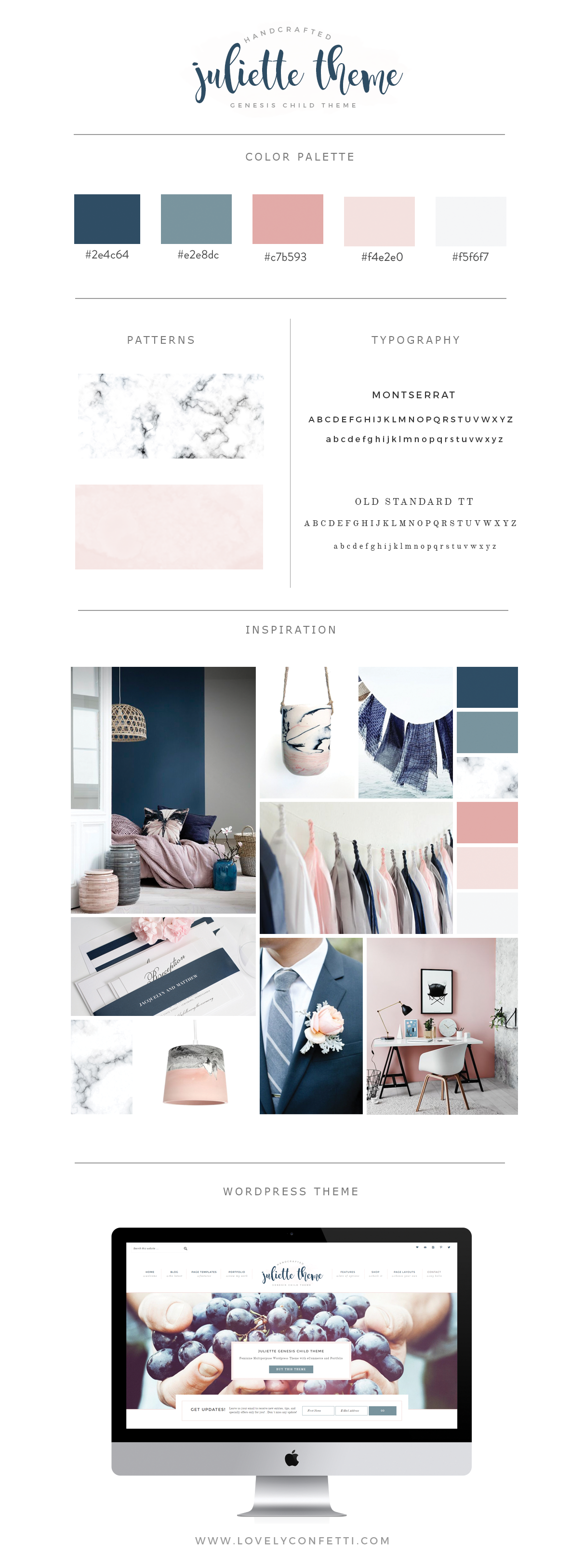 introduccing juliette portfolio and ecommerce genesis child theme