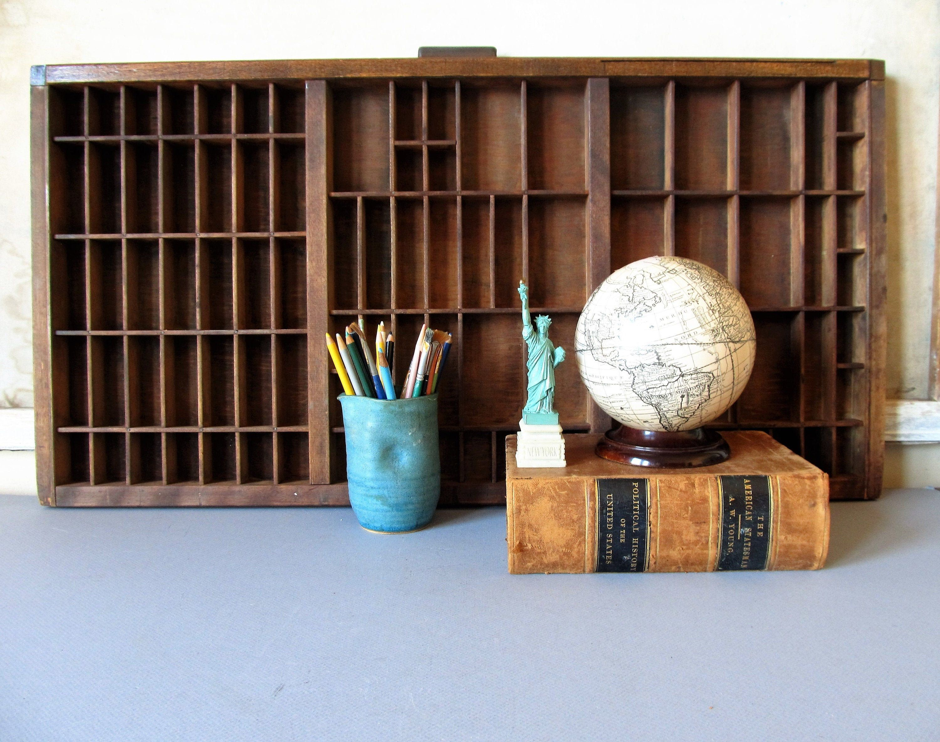 Vintage printers drawer, printers tray, industrial decor, display case. #printerstray Vintage printers drawer, printers tray, industrial decor, display case. #printerstray