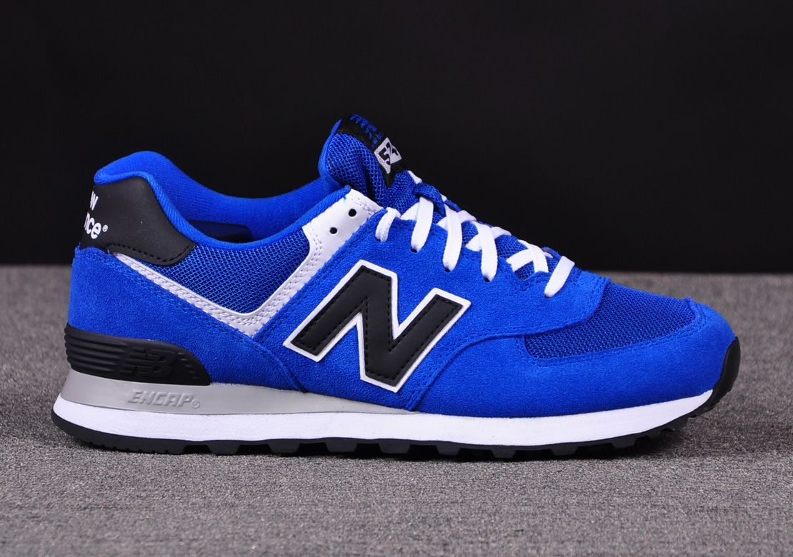 Best Drop Shipping New Balance 574 Couple running shoes Blue black[ML574VBK]