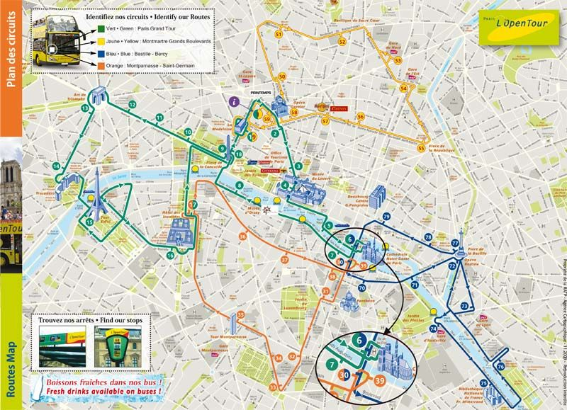 Lopen Tour Paris Map.L Open Bus Tour Paris France Map Hype Vacation