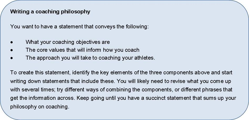 Coaching philosophy conclusion, classroom management strategies in.
