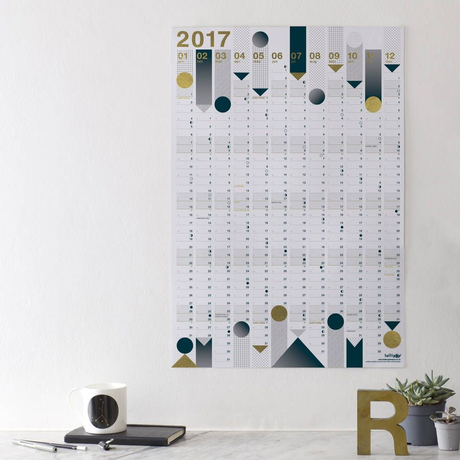 2017 Year Planner : Gold Foil or 2016-2017 Academic Planner