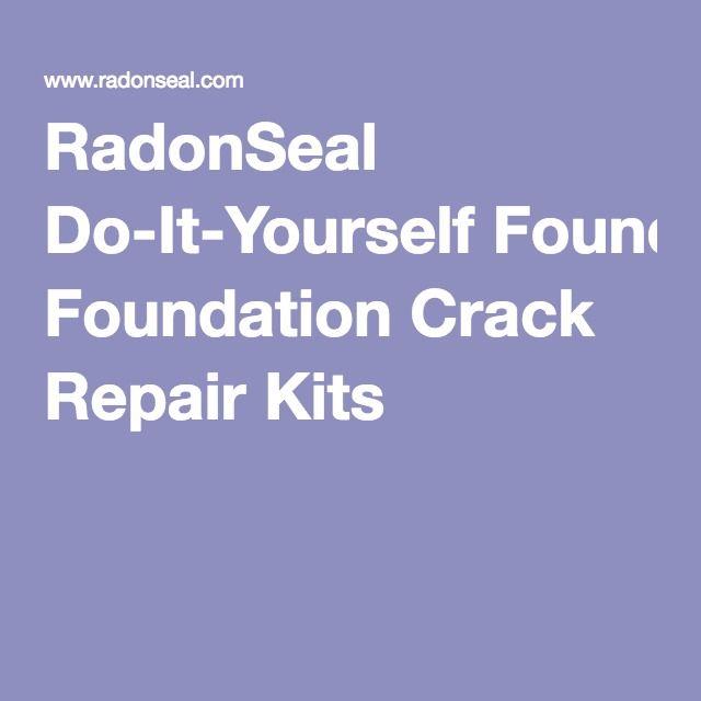 Radonseal do it yourself foundation crack repair kits fix it radonseal do it yourself foundation crack repair kits solutioingenieria Images