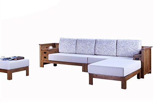 wmaot soild wood frame sectional sofa with foam cushion sofa contempary and natural sofa living room - Wood Frame Sofa With Cushions