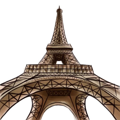 how to draw the eiffel