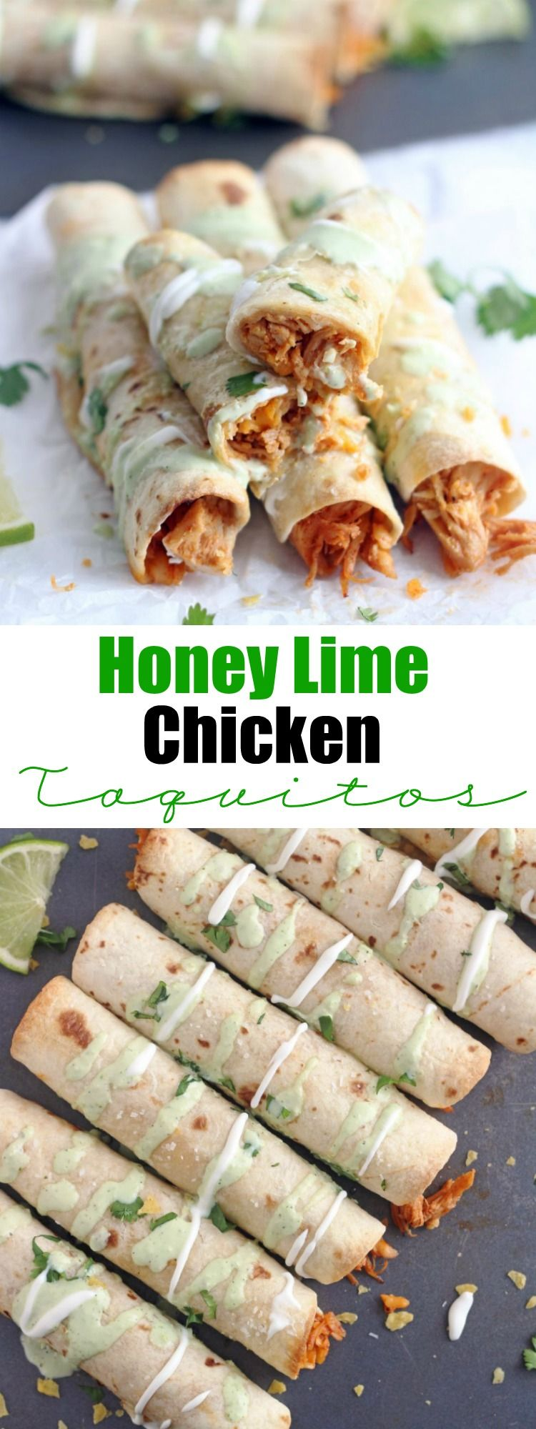 Baked Honey Lime Chicken Taquitos – 5 Boys Baker