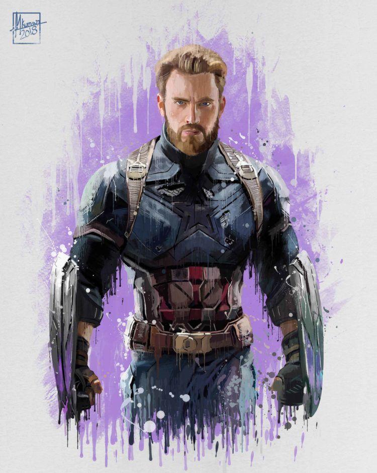 Les superhéros Marvel Infinity War par by Mayank Kumar