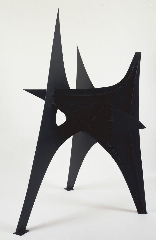 Alexander Calder Trois Pics 1967 Sheet Metal Bolts And