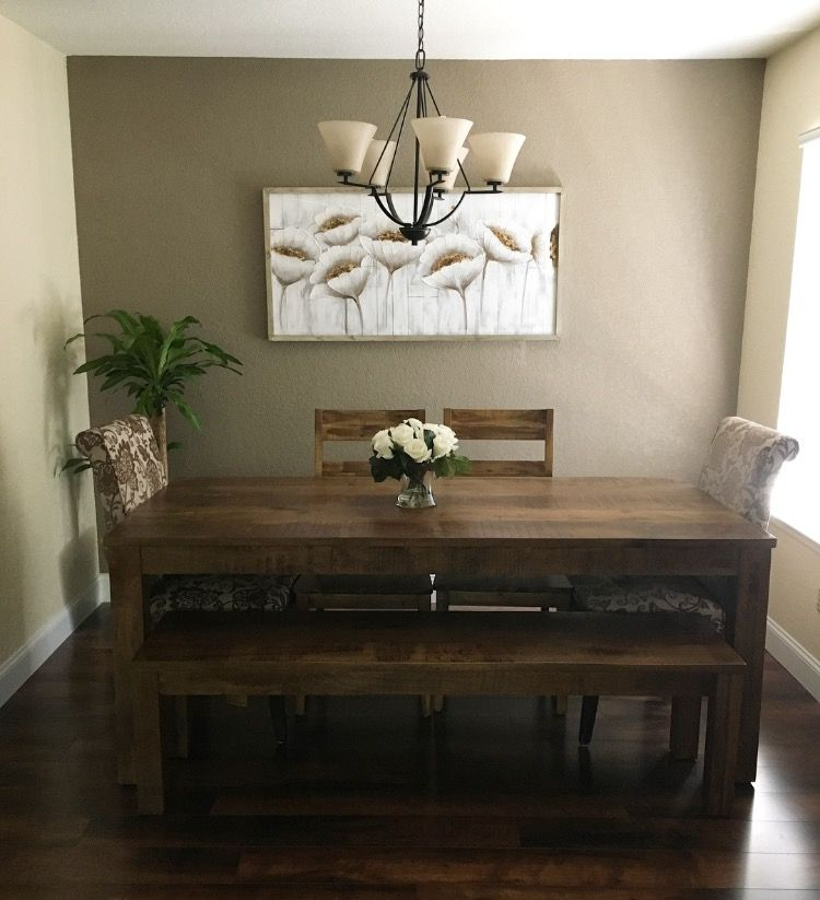 Pier 1 Dining Room Parsons Table In Java Angela End Chairs And Blanc Blossoms Art On The Wall Home Decor Parsons Table Dining Room