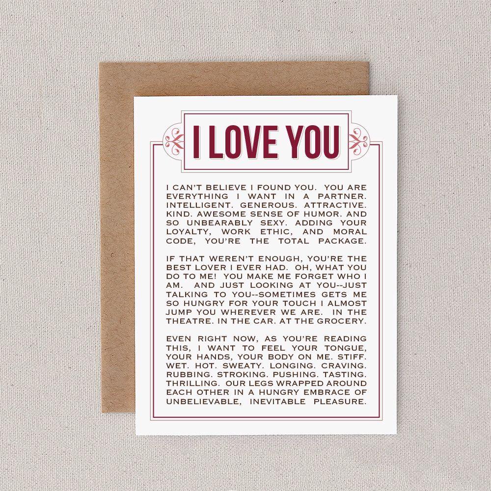 naughty valentine love card funny mature adult boyfriend girlfriend husband - Adult Valentine Cards