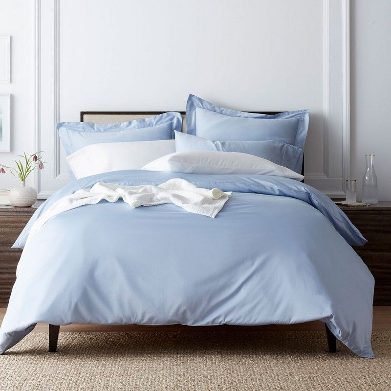 Classic solid sateen duvet cover sham company store
