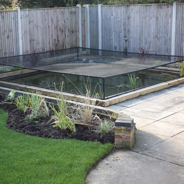 Raised Steel Pond Cover Harrod Horticultural UK outdoor