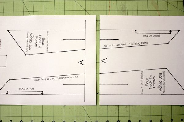 free printable boys neck tie pattern | Sewing projects and Ideas ...